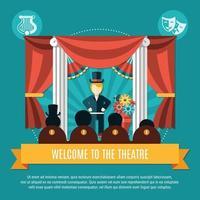 Ilustración de vector de concepto de color de teatro