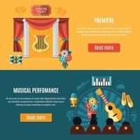 Ilustración de vector de conjunto de banner de teatro