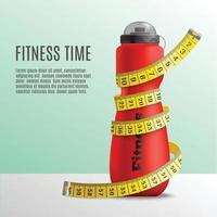 Ilustración de vector de concepto de botella de tiempo de fitness