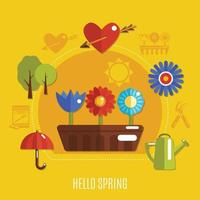 Flat Spring Concept Vector Illustration