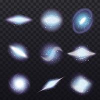 Stars Cluster Transparent Set Vector Illustration