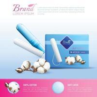 Feminine Hygiene Poster Vector Illustration