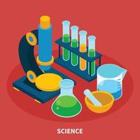 Science Isometric Composition Vector Illustration