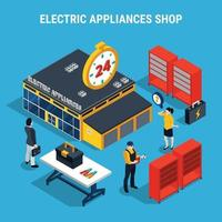 Electricity Isometric 3d Composition Vector Illustration