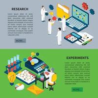 Science Banners Set Vector Illustration