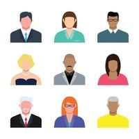 Business Avatar Character Man and woman vector