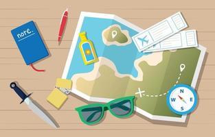 Summer Traveling Element Concept vector