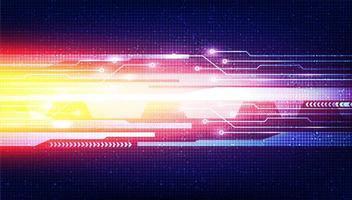 línea de velocidad digital ligera sobre fondo de tecnología vector