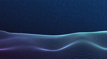 Waving line on technology background vector