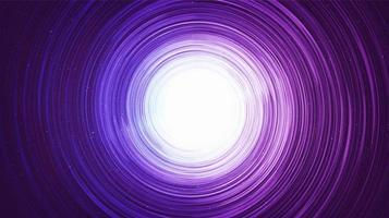 Agujero negro hiperespacial en el planeta de fondo de la galaxia y el concepto de física vector