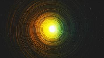 vector hiperespacio realista espiral de la vía láctea en el fondo de la galaxia