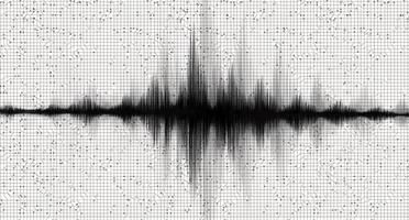 Black Earthquake Waving on White paper background vector