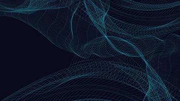 Digital Line Sound Wave on Blue Background vector