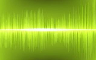 tecnología de fondo de onda de sonido verde claro y concepto de diagrama de onda de terremoto vector