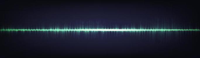 fondo de onda de sonido digital de luz verde vector