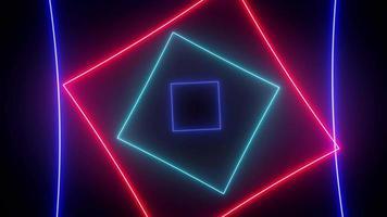 Abstract Digital Neon Background Seamless Loop video