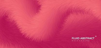 Trendy fashion high-end elegant warm red fur material abstract gradient background vector