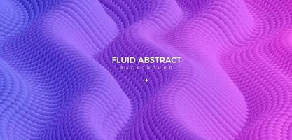 Modern trend fashion blue purple ripple fluid gradient abstract background vector