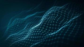 Abstract Digital Mesh Shape Fx Background Loop 4k animation of an abstract fractal digital mesh background with blur focus seamless looping video