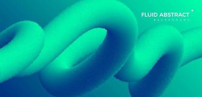 Trendy fashion high-end elegant blue green fur material abstract gradient background vector