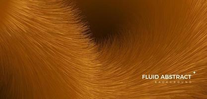 Golden noble fashion trend fur texture fluid gradient abstract background vector