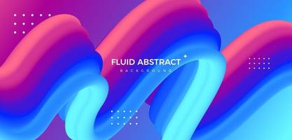 Fashion trend red blue dynamic fluid gradient abstract background vector