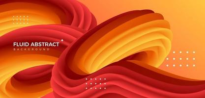 Warm color fashion trendy flowing sense pipeline fluid gradient abstract background vector