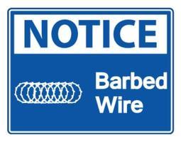 Notice Barbed Wire Symbol vector