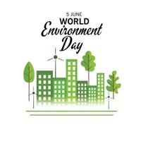 Vector illustration of a Background for World Environment Day.