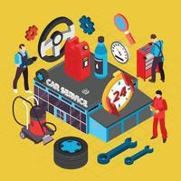 Ilustración de vector de ilustración de servicio de coche