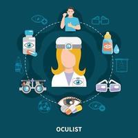 Oculist Eye Care Poster Vector Illustration