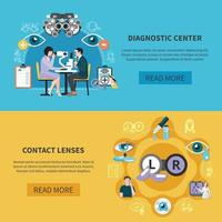 Oculist Eye Care Banners Vector Illustration
