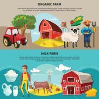 Farm Cartoon Composition Set Vector Illustration