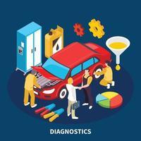 Ilustración de vector de ilustración de servicio automático