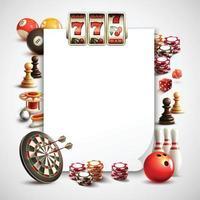 Games Realistic Frame Vector Illustration
