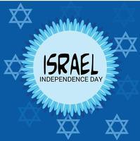 ilustración vectorial de un fondo para el día de la independencia de israel. vector