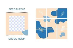 Social media template banner vector