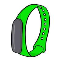 Smart watch bracelet for fitness. Vector illustration isolated on a white background.