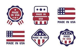 Made In USA Logo Set vector