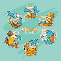Summer Sticker Collection vector