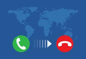 Incoming call smartphone vector