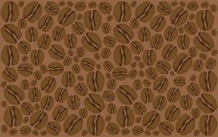 Fondo de granos de café vector
