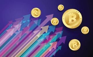 bitcoin going up vector