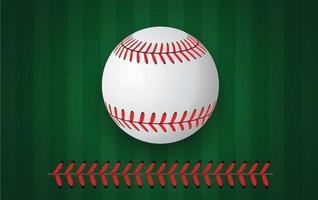 Puntadas de béisbol sobre fondo verde vector
