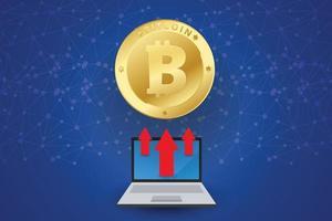 bitcoin subiendo vector