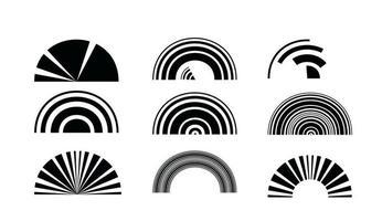 Círculos de tecnología retro abstracta elemento de diseño vectorial. vector