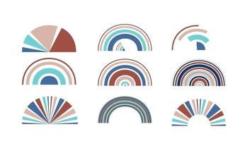 Abstract retro technology circles vector design element.