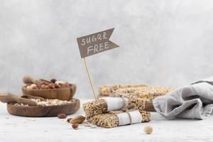 Sugar free granola bars photo