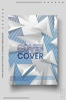 Cover design template with abstract lines modern vector