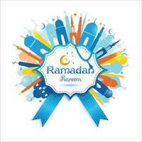 Fondo abstracto de Ramadán Kareem. vector